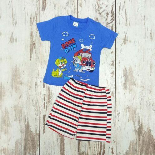 Костюм bone rain голубой: футболка, шорты