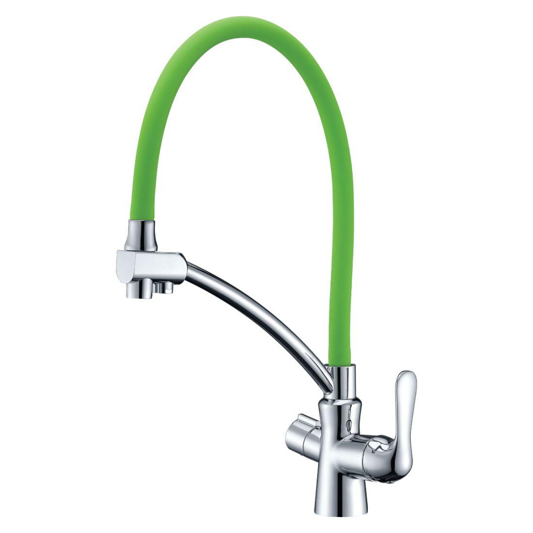 Смеситель для кухонной мойки Lemark Comfort (LM3070C-Green)