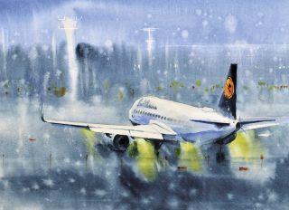 Почтовая открытка Самолет