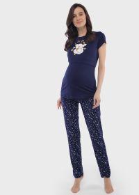 """Комплект для дома """"Стивен"""" для беременных и кормящих; синие звезды"""