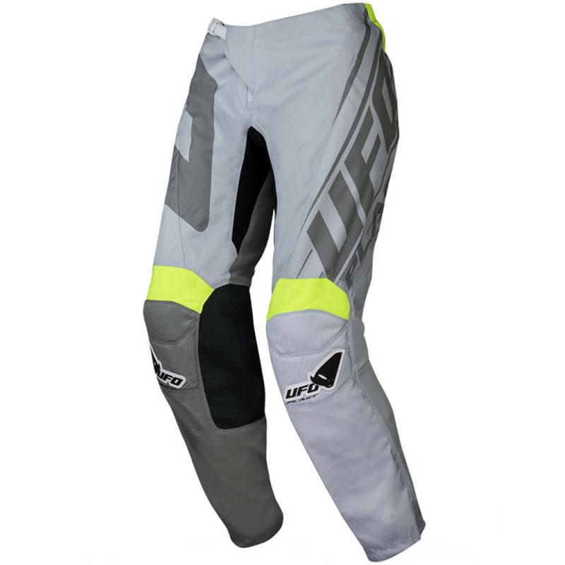 UFO Vanadium Pants Grey/Neon Yellow штаны для мотокросса и эндуро, серые
