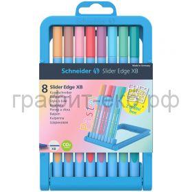 Ручка шариковая Schneider Edge VG 8 цв.ХВ трехгранная пастельные цвета 152289