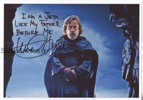 Автограф: Марк Хэмилл. Звёздные войны: Последние джедаи
