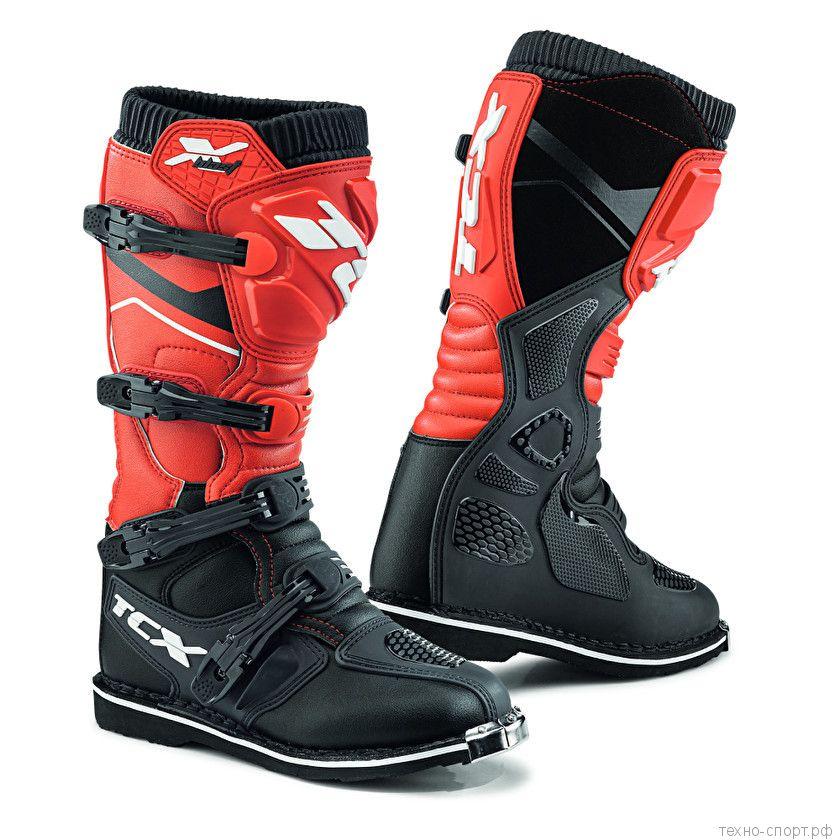 Мотоботы TCX X-BLAST Black/Red