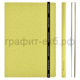 Книжка зап.Феникс+ А5+ ЛЕН на резинке салатовый 96л.клетка 53094
