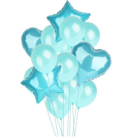 Цветные  гелиевые шары фонтан 1_12