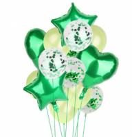 Цветные  гелиевые шары фонтан 1_18