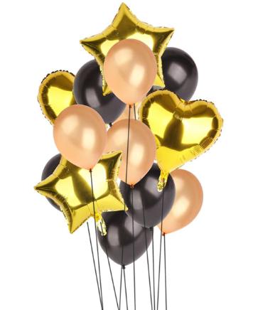 Цветные  гелиевые шары фонтан 1_2