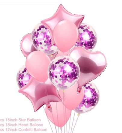 Цветные  гелиевые шары фонтан 1_39