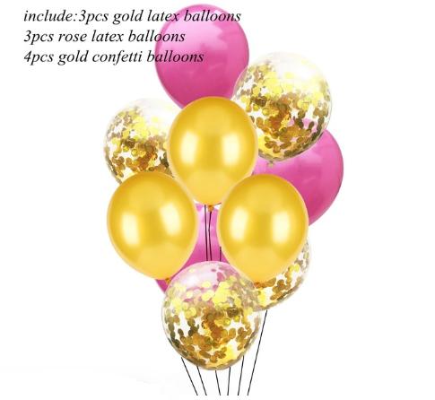 Цветные латексные шары воздушные шары с конфетти №10