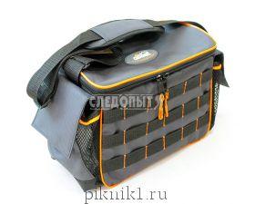 "Сумка ""СЛЕДОПЫТ"" Base Lure Bag L, 36х22х15 см, серая+3 кор. Luno 20, PF-BLBL-L20G / PF-BBA-02"