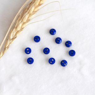 Набор мини пуговиц для творчества, Синий, 10 шт., 5 мм.