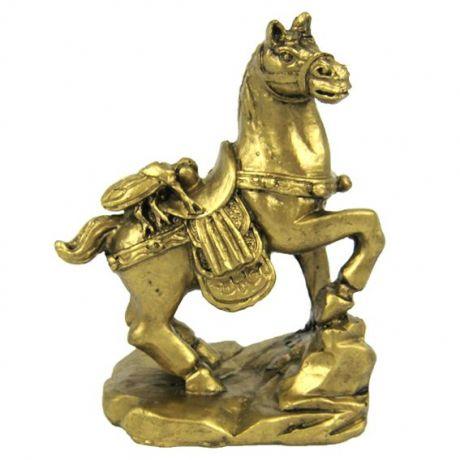 Лошадь с цикадой фигурка, полистоун 9см
