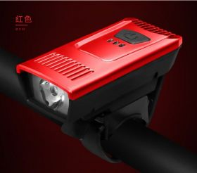 Фонарь передний велосипедный USB красный