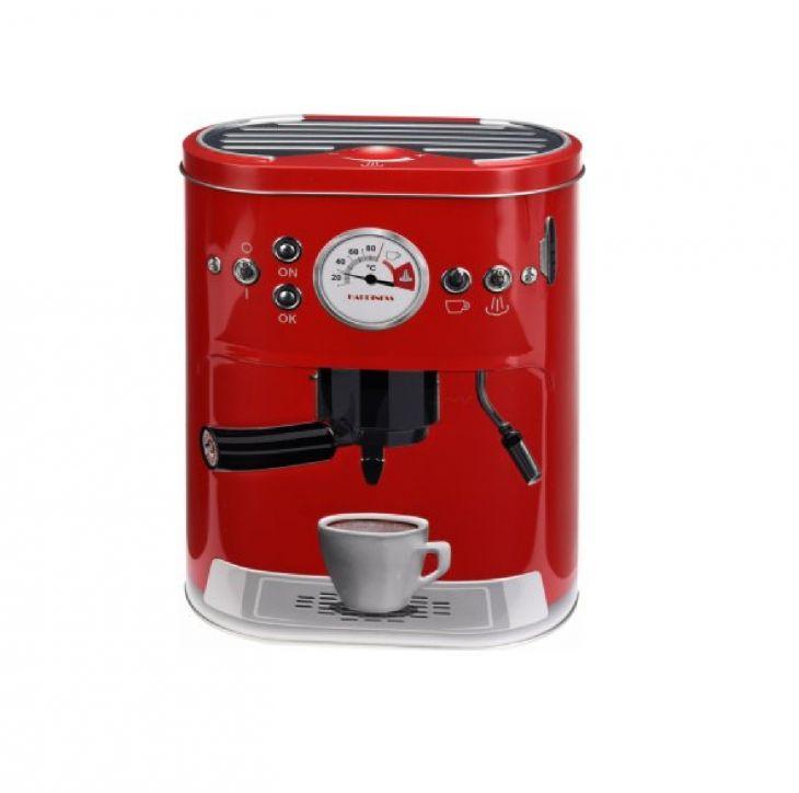 Банка для кофе КОФЕВАРКА 1000 мл красный
