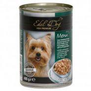 """Edel Dog Влажный корм для собак """"Нежные кусочки телятины с кроликом"""", 400 гр"""