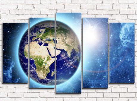 Модульная картина Планета Земля