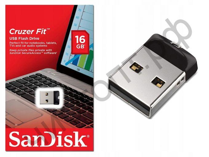 флэш-карта SanDisk 16GB Cruzer Fit