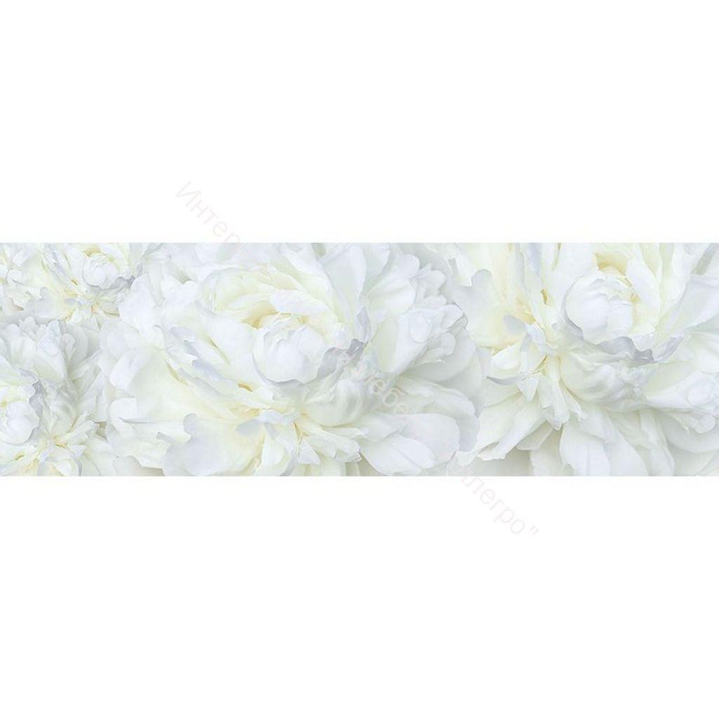 Стеновая панель с фотопечатью Пионы белые 2800