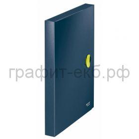 Папка-бокс А4 3см Leitz ReCycle с застежкой т-синий 46230069