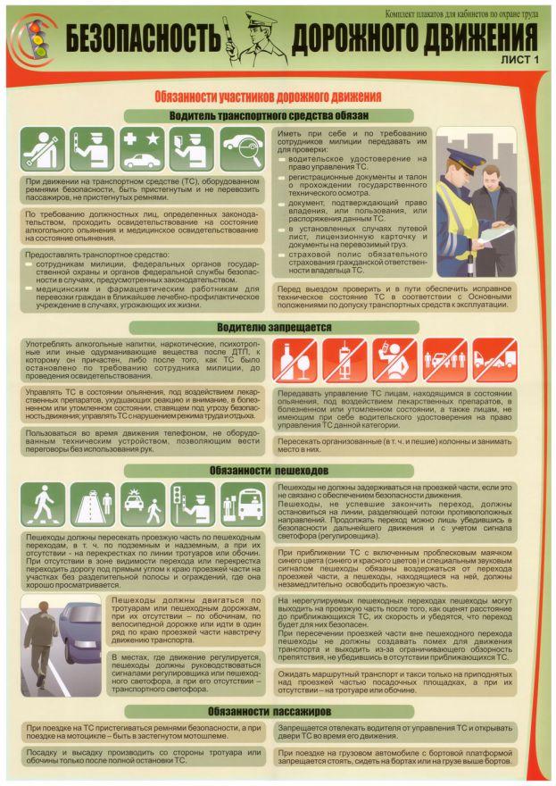 Информационный стенд Безопасность дорожного движения_4