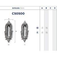 Ручка Enrico Cassina C50500 для раздвижных дверей схема