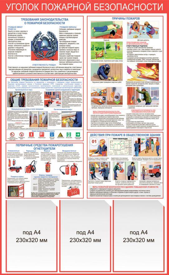 Информационный стенд Правила пожарной безопасности_4