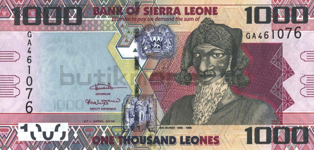 1000 леоне 2016 Сьерра-Леоне