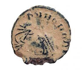 Римская монета Фоллис №6. ОРИГИНАЛ Римская Империя 1-2 век