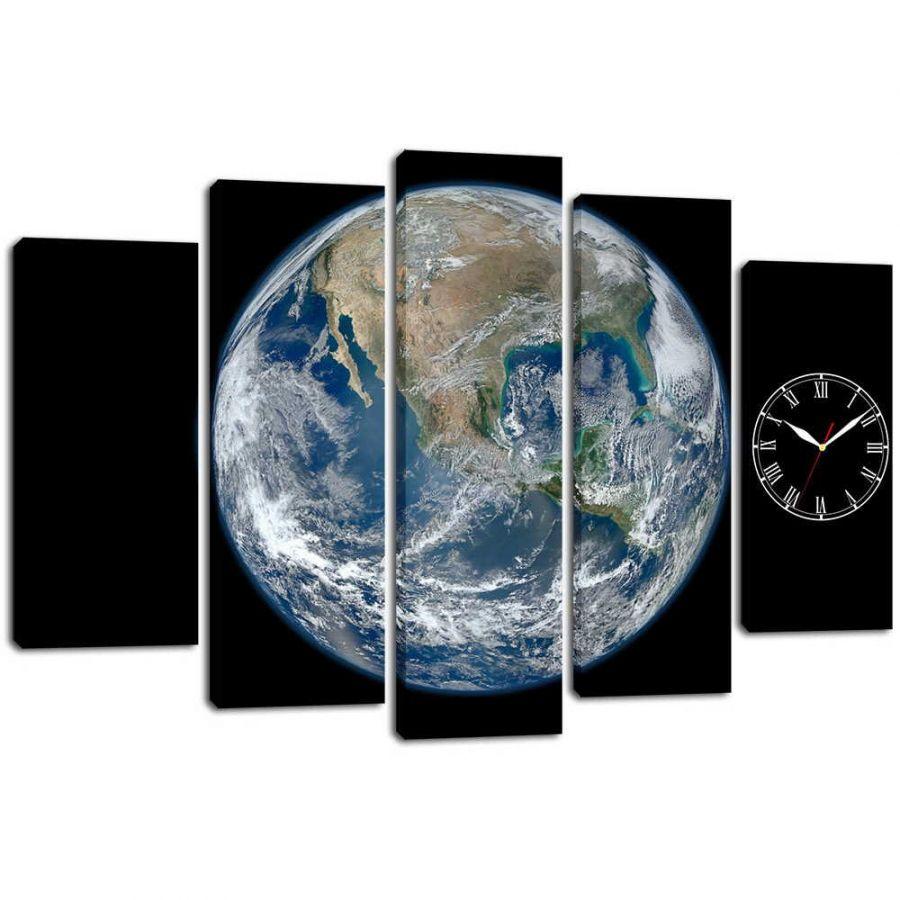 Модульная картина с часами MDC033