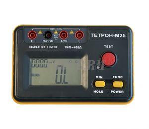 ТЕТРОН-М25 Мегаомметр цифровой 2500 Вольт 40 ГОм