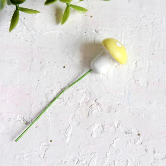 Аксессуар для кукол - Желтый гриб мухоморчик, 1,6 см.