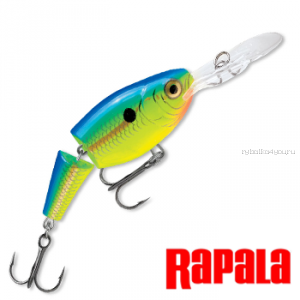 Воблер RapaIa Jointed Shad Rap 50мм / 8 гр / Заглубление: 1,8 - 3,9 м / цвет: JSR05-PRT
