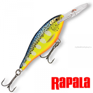 Воблер Rapala Shad Rap 50мм / 6 гр / Заглубление: 1,2 - 2,7 м / цвет:  SR05-HS