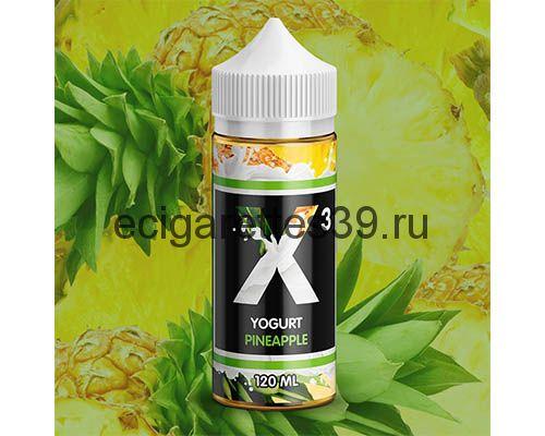 Жидкость X-3 Yogurt Pineapple, 120 мл.