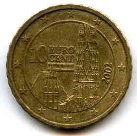 Австрия 10 евроцентов 2002