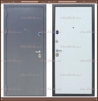 Входная дверь Торино Тёмно-серый букле / Роял Вуд Арктик 100 мм. Россия