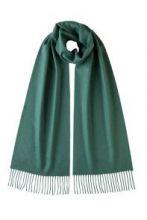 однотонный кашемировый шарф (100% драгоценный кашемир),  Малахит GREEN CASHMERE, высокая плотность 7