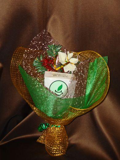 Букет Новогодний с чаем - подарочный набор с чаем