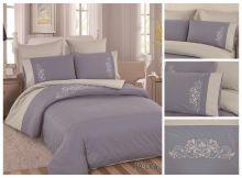 Комплект постельного белья Перкаль с вышивкой  1.5-спальный  Арт.PV-006-1