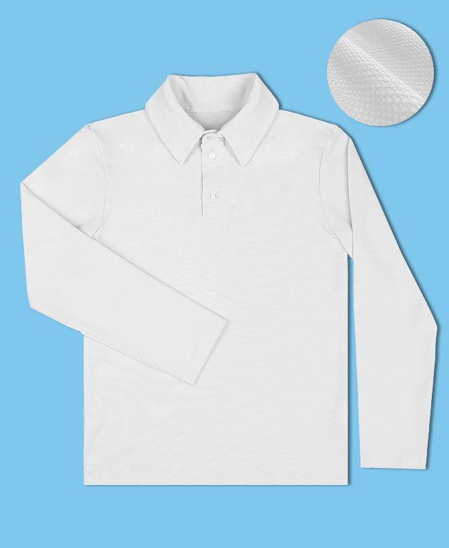 Белая рубашка-поло для мальчика