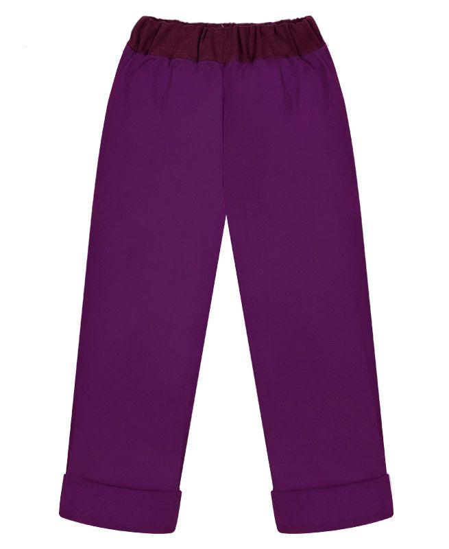 Фиолетовые утеплённые брюки для девочки