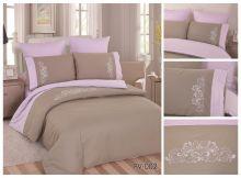Комплект постельного белья Перкаль с вышивкой  семейный  Арт.PV-002-4