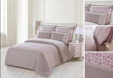 Комплект постельного белья  Сатин  с цветным кружевом  1.5-спальный  Арт.SZV-005-1