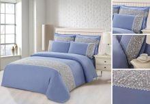 Комплект постельного белья  Сатин  с цветным кружевом  семейный  Арт.SZV-012-4