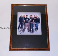Автографы: Iron Maiden. Харрис, Мюррей, Смит, Дикинсон, МакБрэйн, Герс