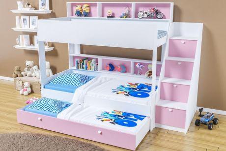 Трехъярусная кровать Golden kids 10.1 белый