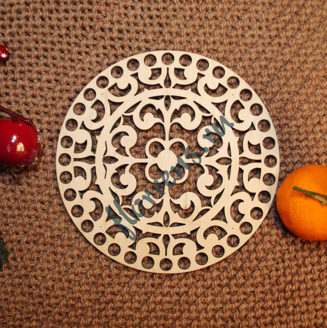 Крышка из фанеры / 15 см, орнамент