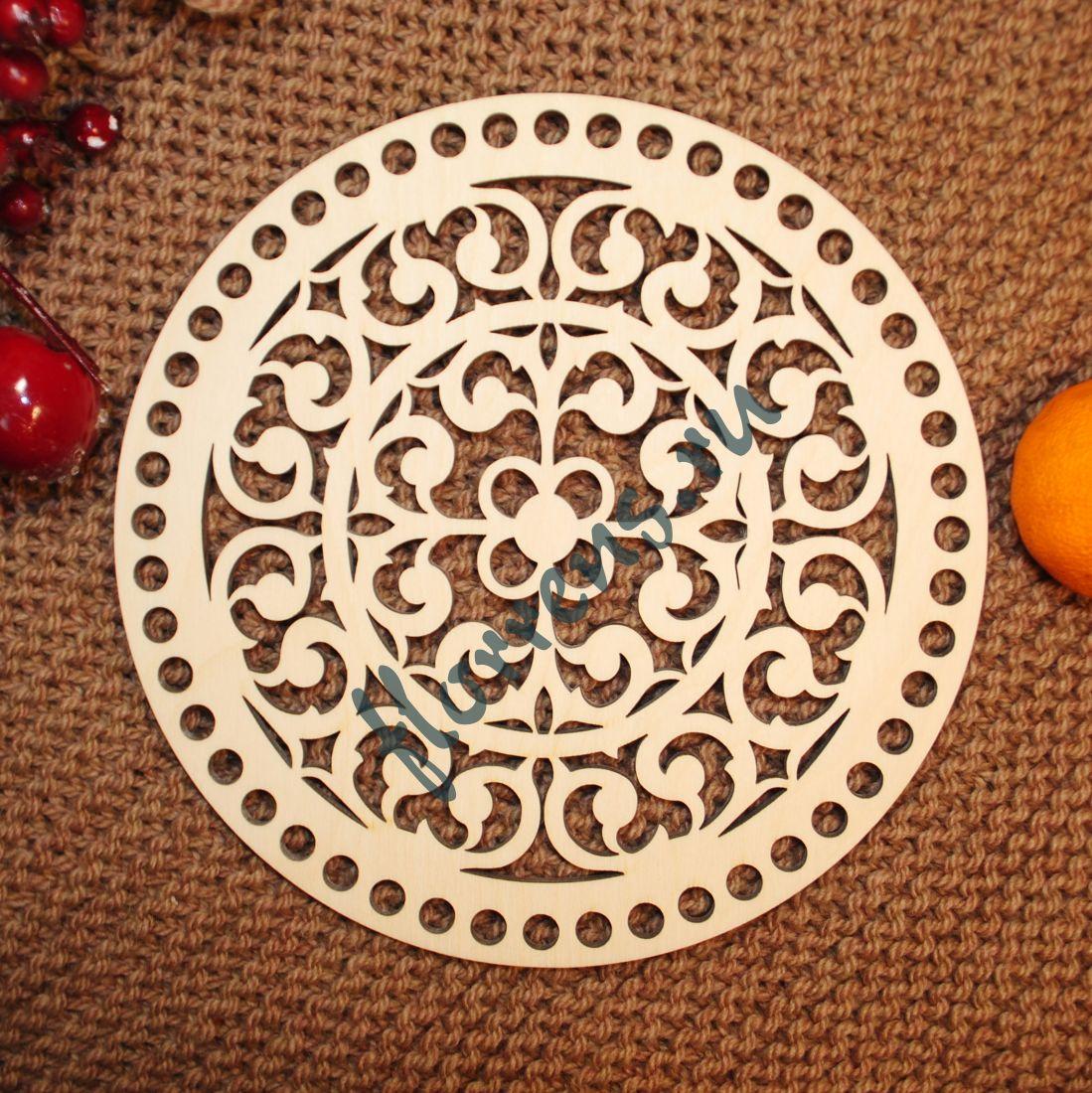 Крышка из фанеры / 20 см, орнамент