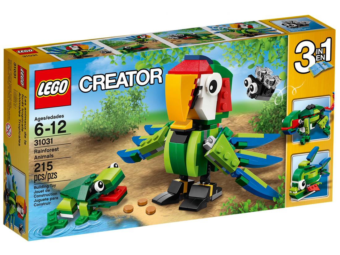 31031 Животные джунглей. ЛЕГО 31031 LEGO Creator